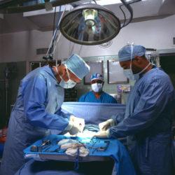 手術中の医師たち